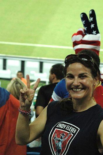 Rebecca at Ghana game