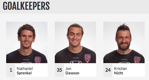 From left: Nathan Sprenkel, Jon Dawson and Kristian Nicht. Sprenkel and Dawsom helped stock local support for the team, Sprenkel as a DePauw University alum and Dawson of Butler.
