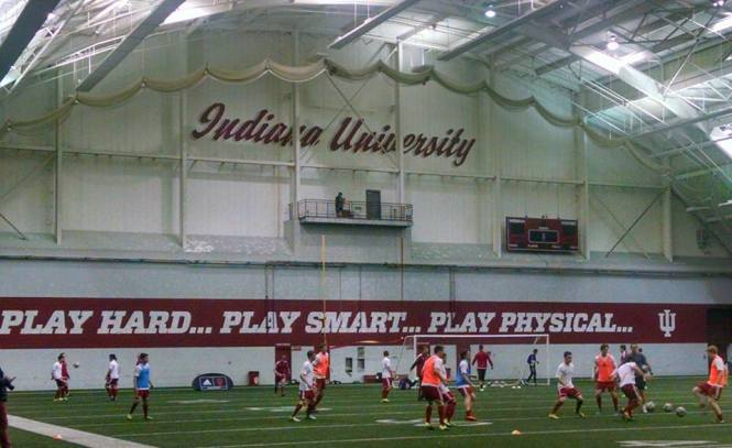 IU warms up ahead of Indy Eleven match Feb 26 2016