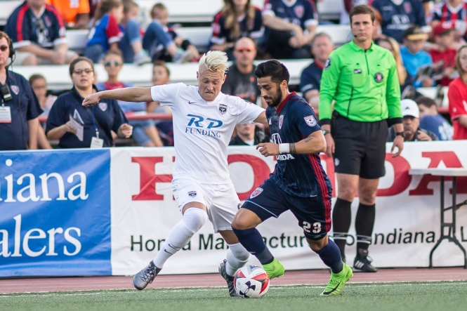 Jacksonville Armada FC at Indy Eleven Photo: Trevor Ruszkowski