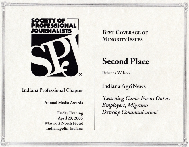 SPJ Minority Issues award